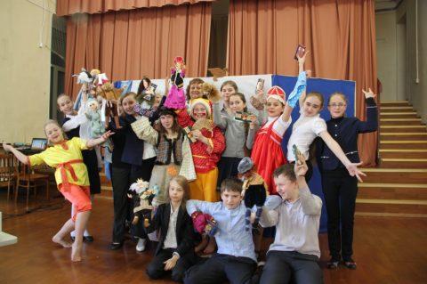 Показ кукольного спектакля на английском языке «Царевна лягушка»