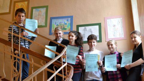 Школьная выставка рисунков учащихся 6 класса «Далекое Средневековье»