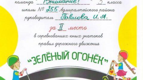 Районные соревнования юных знатоков ПДД «Зеленый огонек»