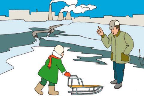 Безопасность поведения на льду
