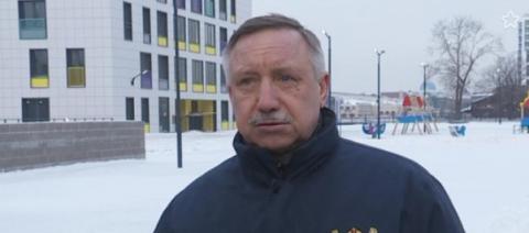 Александр Дмитриевич Беглов провел осмотр здания нашей новой школы