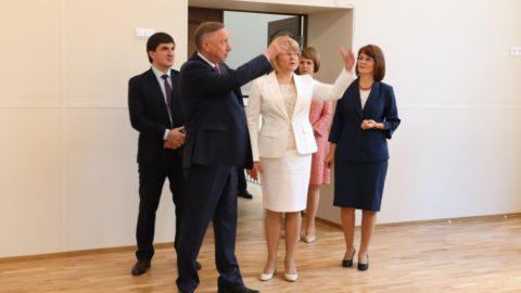 Губернатор Санкт-Петербурга Александр Беглов проинспектировал капитальный ремонт нашей школы