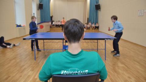 Школьный турнир по пинг-понгу