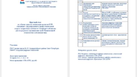 Круглый стол по обмену опытом реализации проектов ОЭР в АППО
