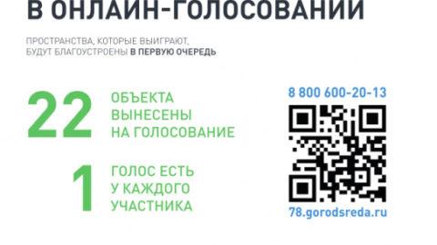 Онлайн-голосование за очерёдность реализации объектов благоустройства